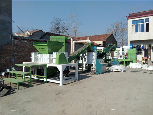 散热器铜铝水箱分离机安徽客户生产现场