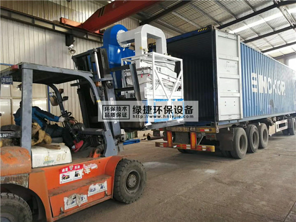 铜铝水箱分离机时产一吨生产线出口泰国