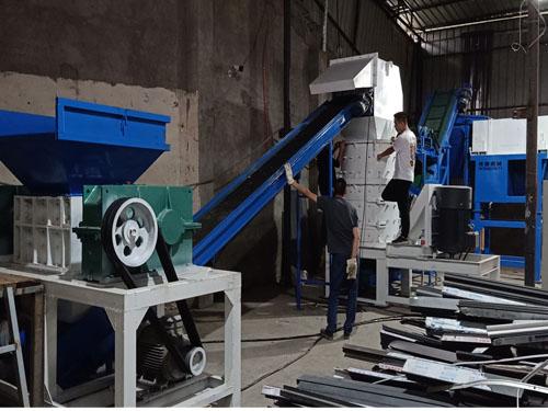 断桥铝破碎分选设备时产1吨生产线成都安装现场